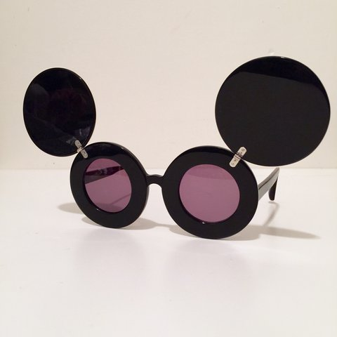 03f552f31888 Linda Farrow x Jeremy Scott Mickey Sunglasses #ladygaga on - Depop