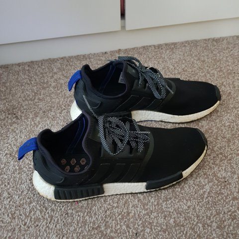 2512dbc65 Great Condition Adidas NMDs in black and white. Good used   - Depop