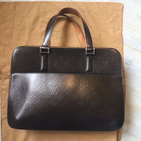 c5418c4cfcf0 Vintage Genuine Louis Vuitton Handbag. LV Dust bag and who - Depop