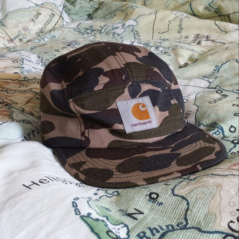 6c7b22647bf8f Carhartt 5 panel cap - camo Mad 5 panel comes in invisible - Depop