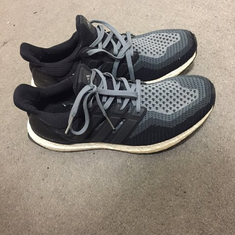 Adidas Ultra Boost 2.0 Black And Grey Size UK 10 9 10 worn - Depop fa186bb45