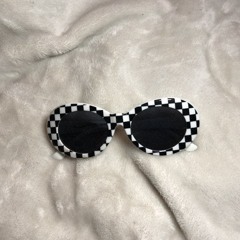 238d4f943ac0 checkered clout goggles from zumiez. only worn a couple #y2k - Depop