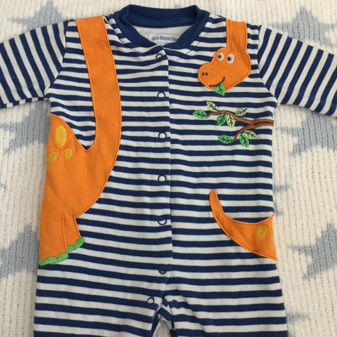Jojo maman bebe all in one romper sleepsuit Size 0 3 Depop
