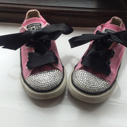 4e2482161351 Converse customised infant size 7 x  converse  kidsconverse - Depop