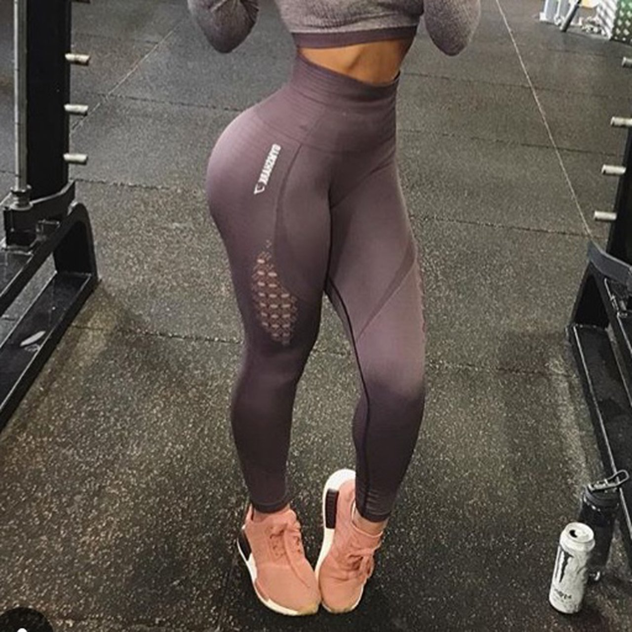 6622c3891694d3 @hayleybrunsden. last year. Kidlington, United Kingdom. RESERVED - Gymshark  energy Seamless purple wash high waisted leggings ...