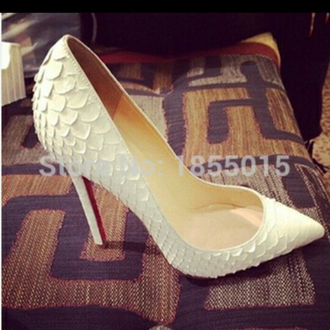 850c6a5f0 @apmcf. 3 years ago. Co. Longford, Ireland. Stunning #white #snakeskin #christian  Louboutin shoes