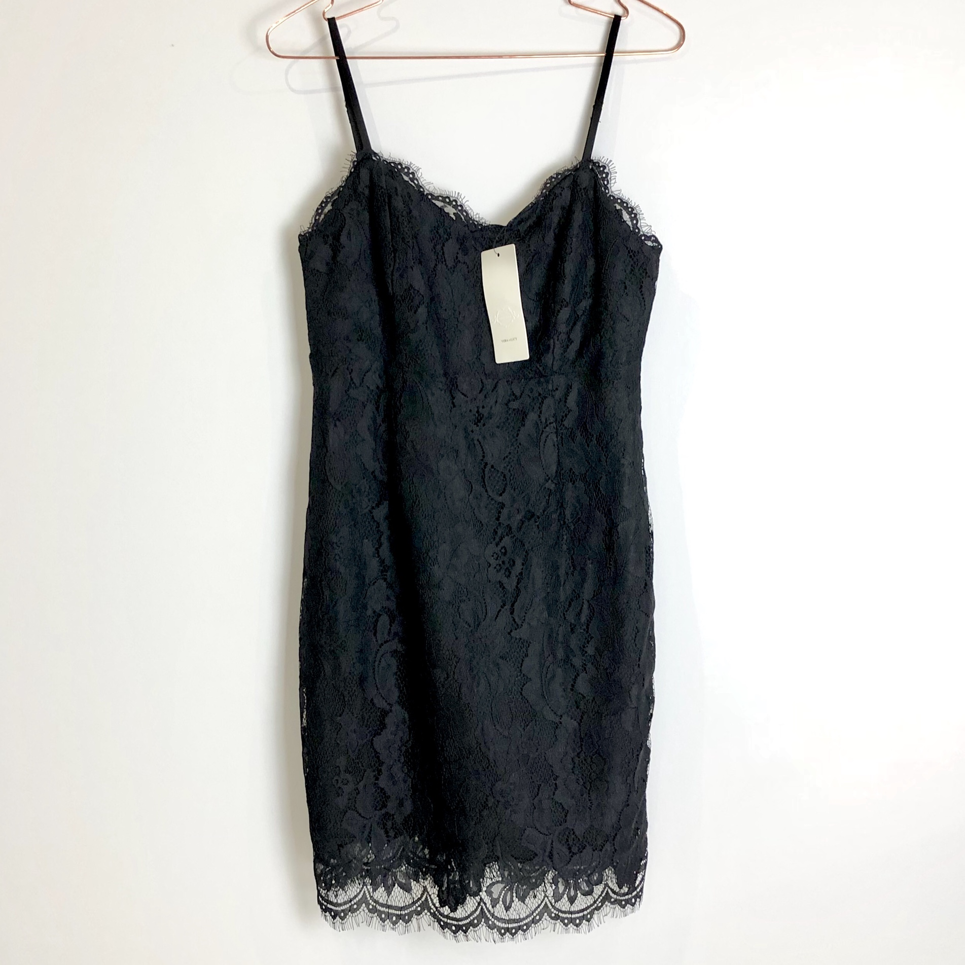 New With Tags Vera Lucy Asos Black Lace Dress In