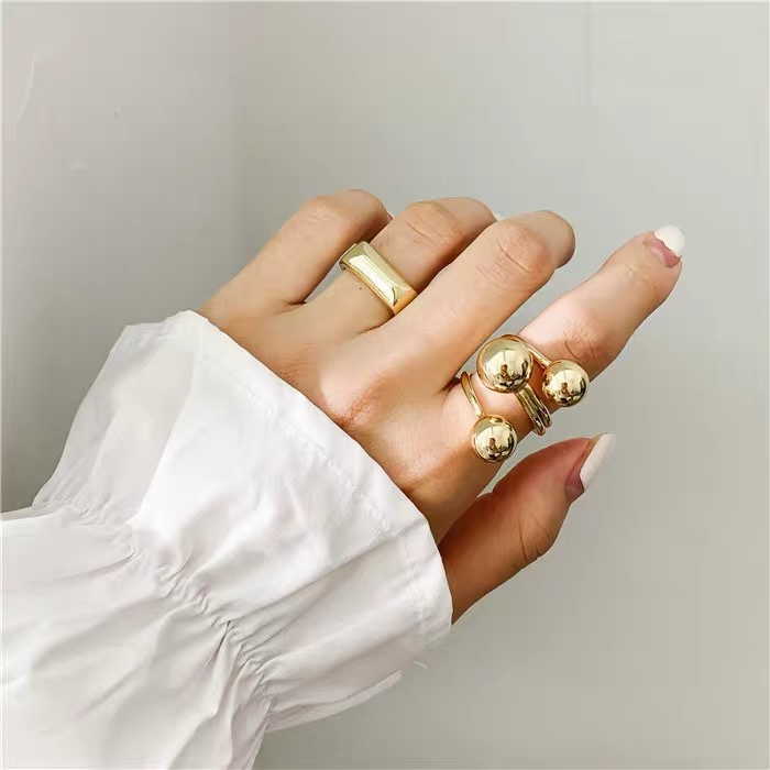 Unisex Three planets design ring gold ring adjustable ring