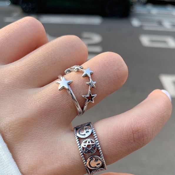 unisex Star ring sterling silver ring silver ring Cute