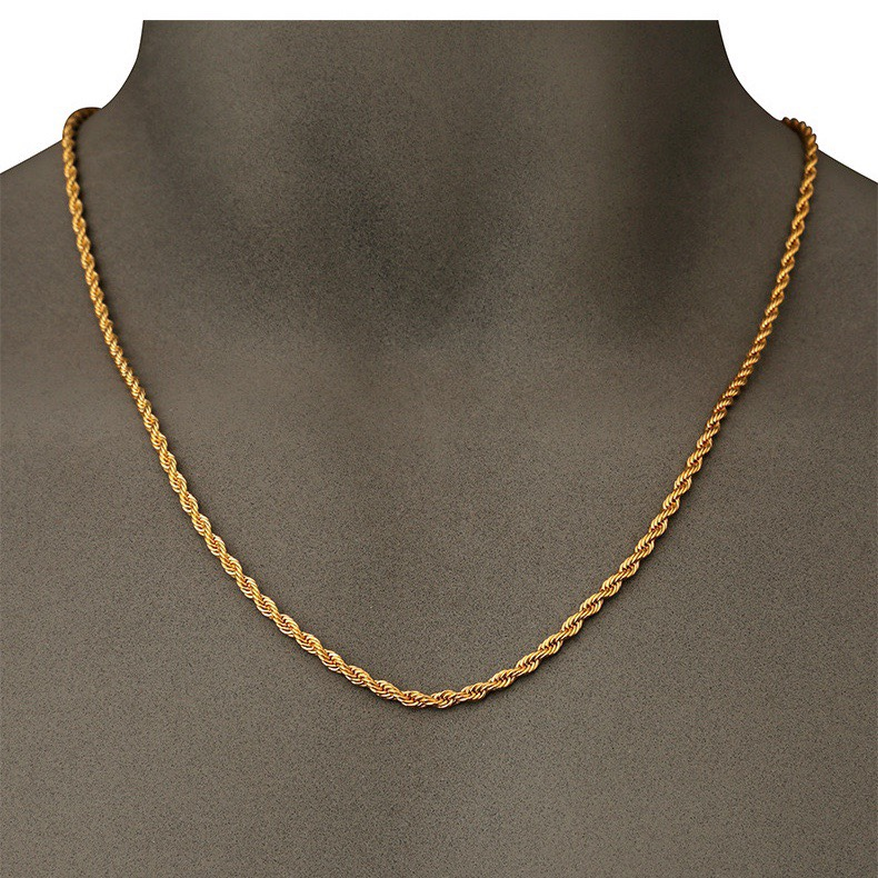Unisex gold necklace rope chain necklace gold choker gold