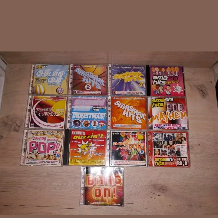 SMASH HITS MUSIC CD'S LARGE BUNDLE FROM