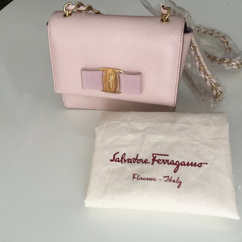 1e41be8565 @altynaisadi. last year. London, UK. Cute Salvatore Ferragamo Ginny mini bag  in blush pink. Brand new ...