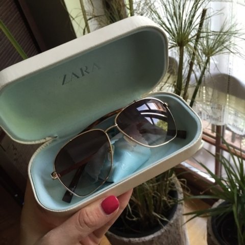 c94d442202 Zara sunglasses. Perfect condition. Comes with the case. on - Depop