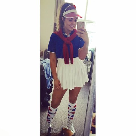Pub Golf Fancy Dress Outfit Included Red Jumper Blue T Depop
