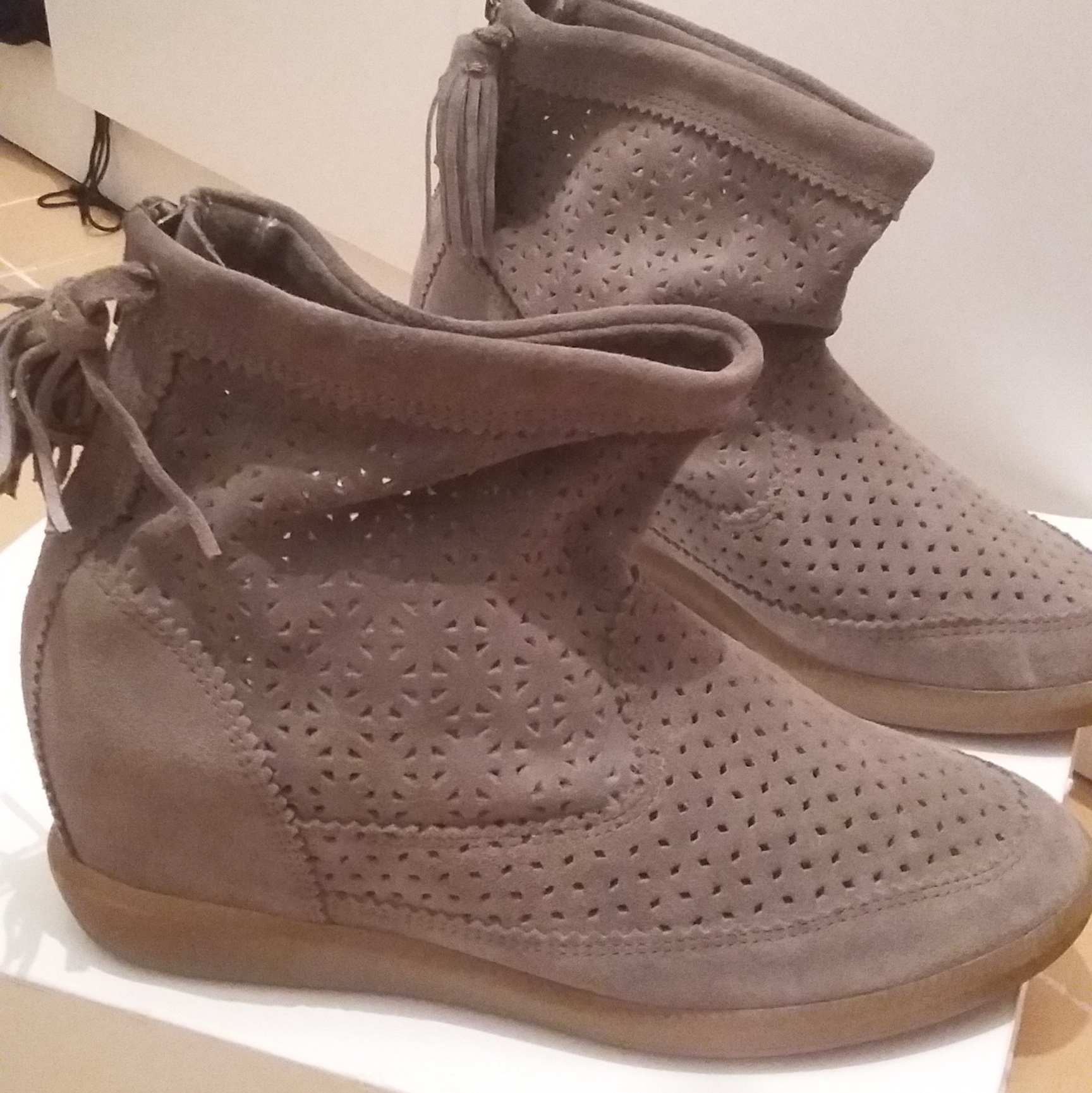info for a4cf5 ba120 Isabel Marant shoes, excellent condition, worn... - Depop