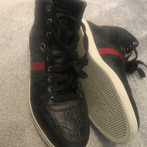 a940c5eb1 Gucci high tops uk size 8 no box or dust bag due to house - Depop