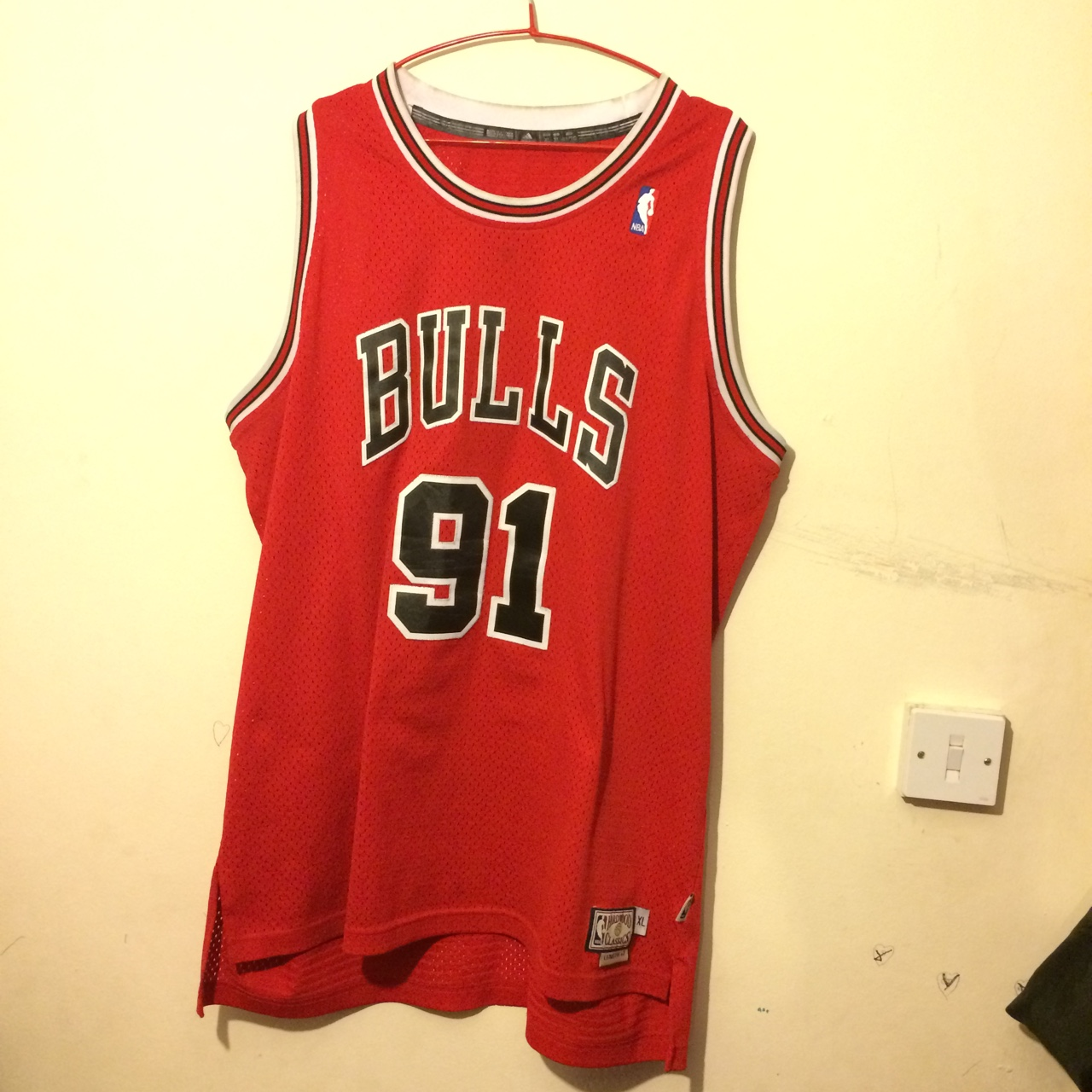 on sale 98f34 2065a Dennis Rodman No.91 Chicago Bulls Jersey Size XL I'm ...