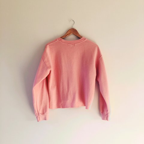 Baggy salmon pink river island jumper with cut off hem. In a - Depop 3805ec154