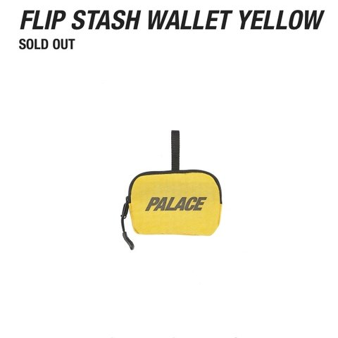 b2ef16a591f9 Palace Skateboards Flip Stash Wallet Yellow AW18 (palace out - Depop