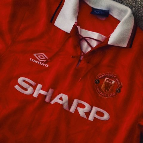 acd8ca7db62 Man United 1992-94 home shirt manufactured by umbro - the of - Depop