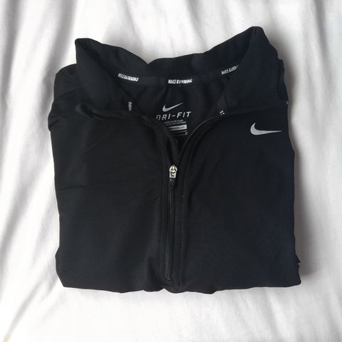 Nike Dri-Fit half zip pull over. Color  Black. Mens size I m - Depop f4aac7f80