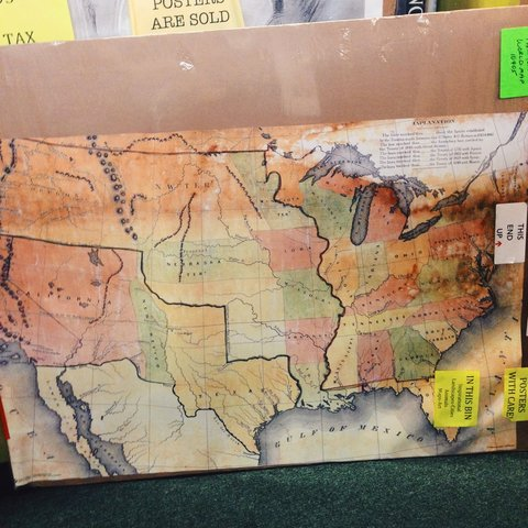 Usa America Map Historical Poster Approximately 24x36 In Depop