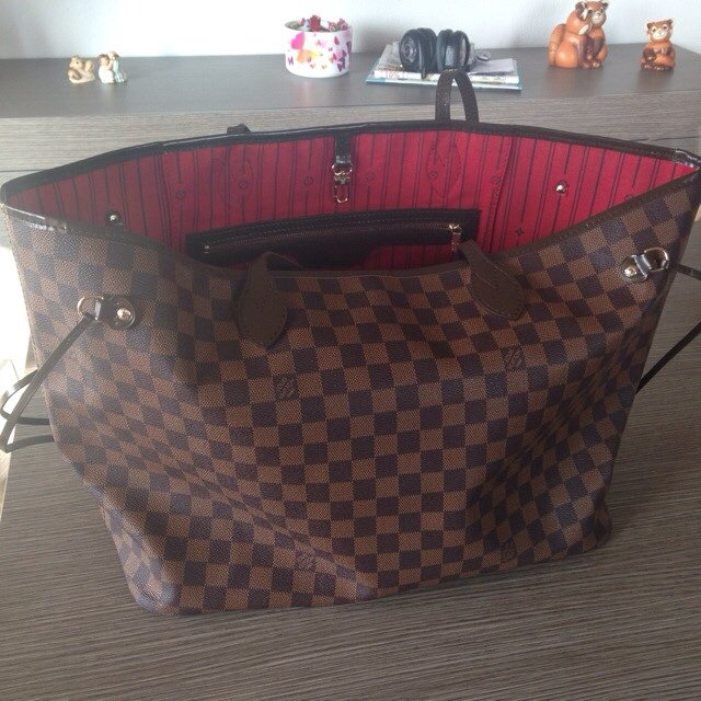 49cc9f8edb Simil Louis Vuitton Neverfull GG in tela Damier, copia come - Depop