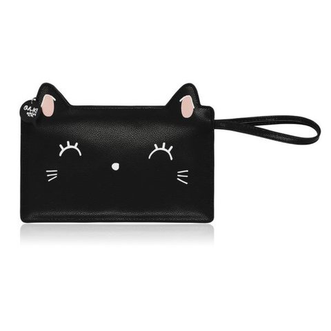 19f41fd22 Black O Kitty Makeup Bag | Saubhaya Makeup