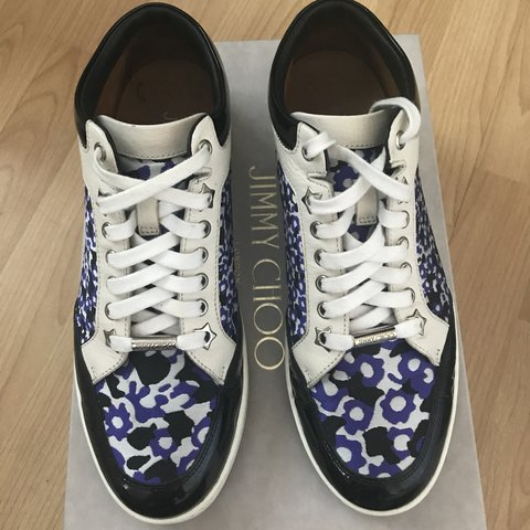 051ddb9cf4 Floral print Jimmy Choo trainers size 4.5/ 37.5 worn a of in - Depop