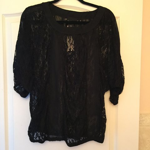 1541ef38cd2d Brand new with tags. Lace and sheer top from Lane Bryant. - Depop