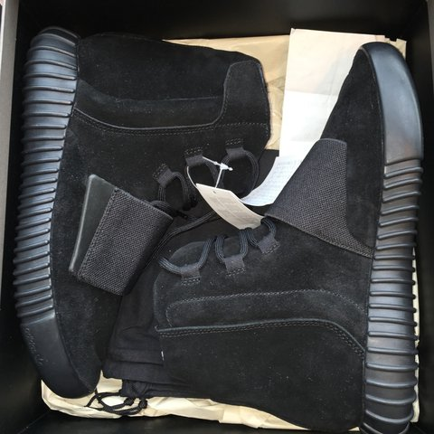 c4ef5834d Yeezy boost 750 triple black size 6US 5.5UK extremely rare - Depop
