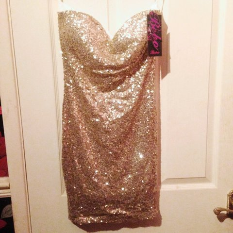 6c81dc3b @zoecavalier15. 4 years ago. Caister-on-Sea, Norfolk, UK. Topshop brand  bebo size 12 gold sequin dress brand new with tags still never worn ...