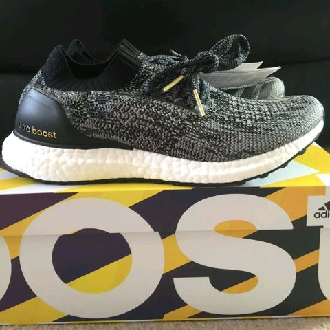 d6f7d7160 Adidas Ultraboost uncaged core black. Brand new in box with - Depop