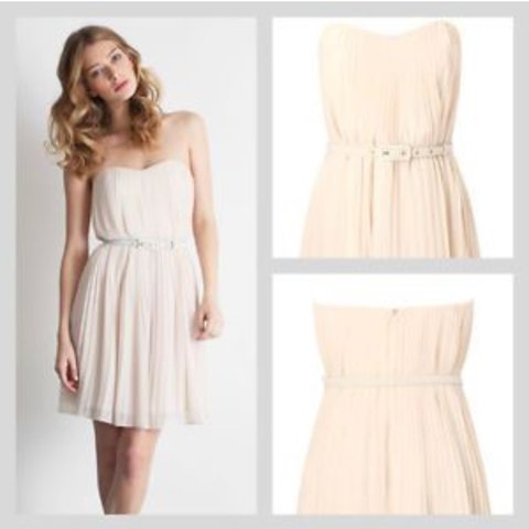 314ef7e9a04 Size 6 pale pink French connection dress perfect for a don t - Depop