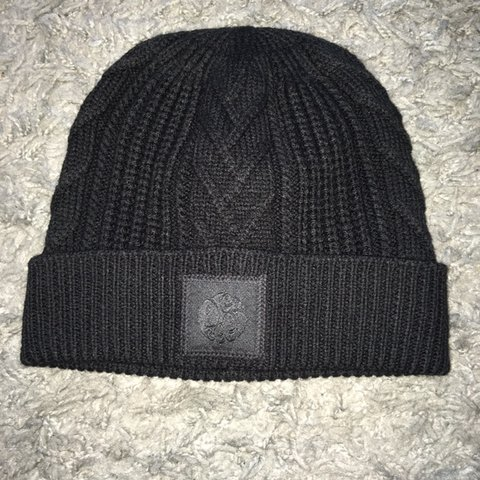 c98fdf8475b Pretty Green black wool blend beanie hat. RRP £35. never so - Depop