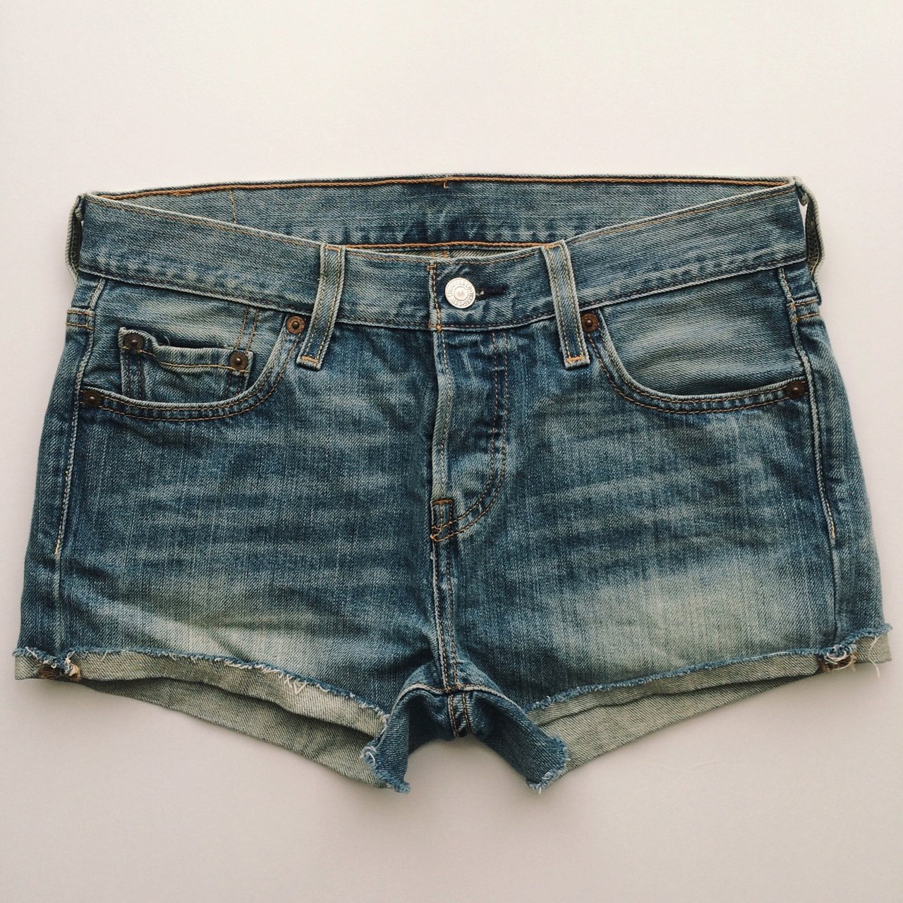 26e31e14c2 Levi's 501 Cut-Off Shorts, purchased at Urban Outfitters. up - Depop