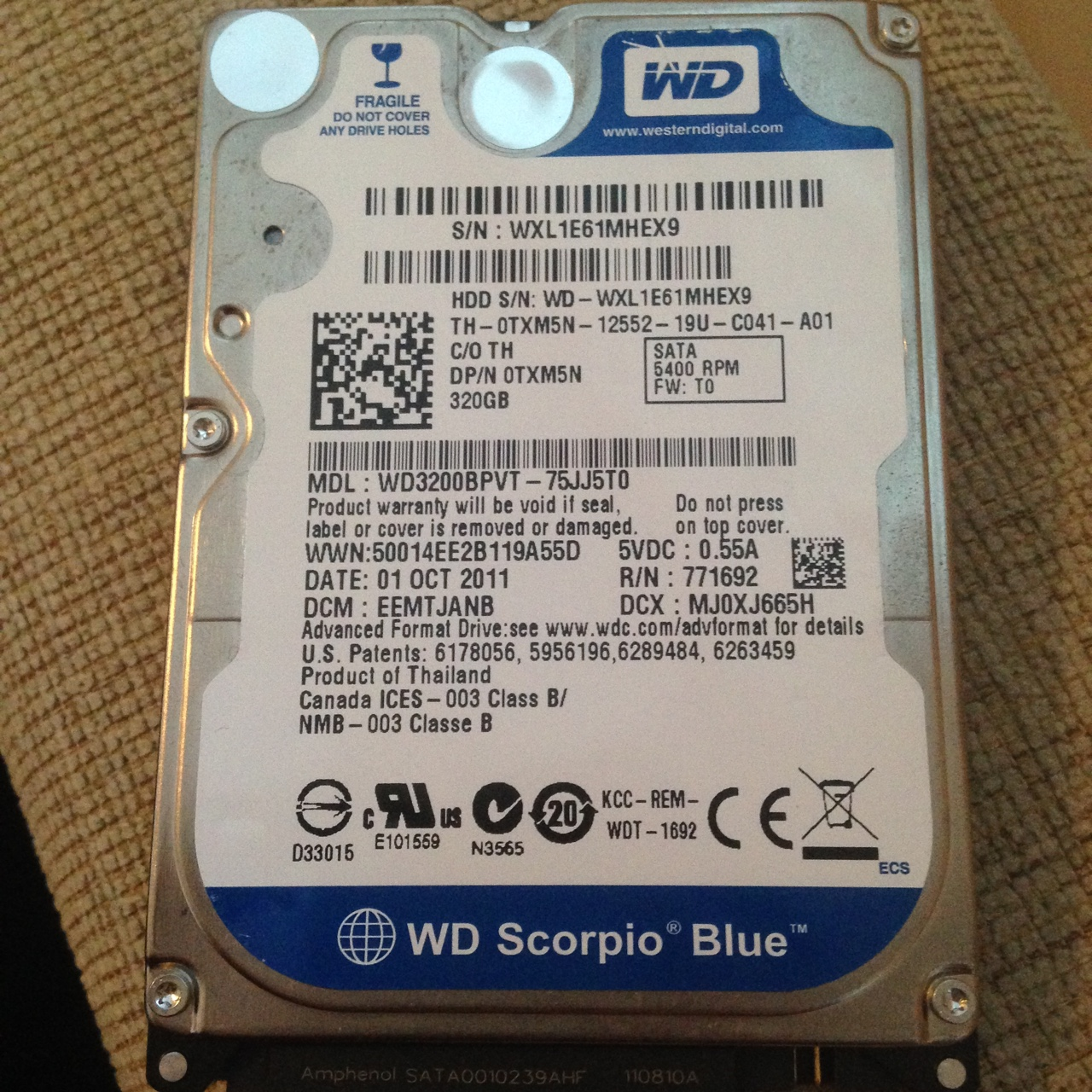 320gb laptop hard drive, fully working  Came out of    - Depop