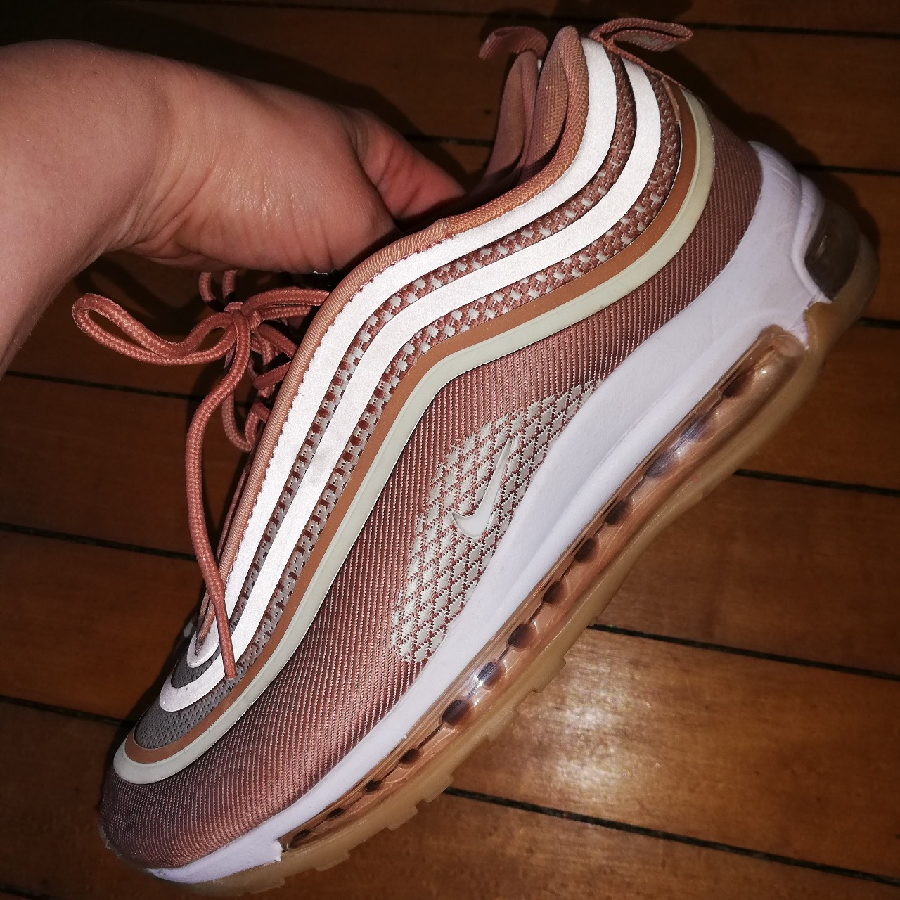 Gorgeous Nike air Max 97 Rose Gold limited edition Depop