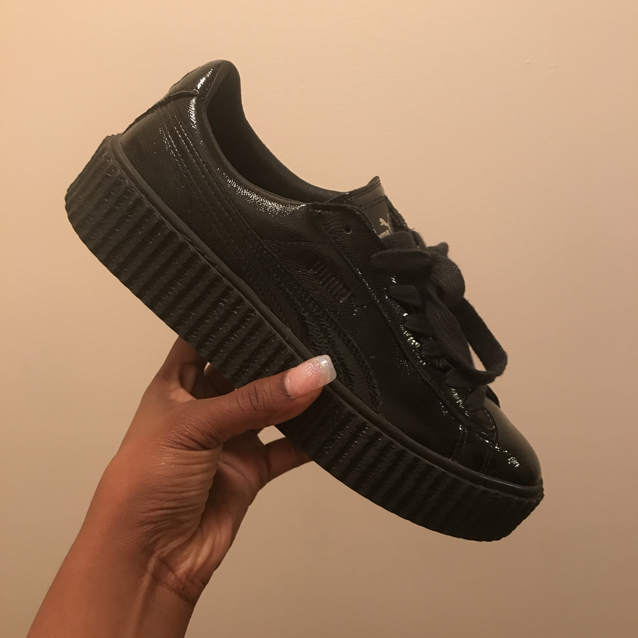 competitive price ae7fe f8c7a Rihanna Fenty Puma creeper. Cracked patent leather.... - Depop