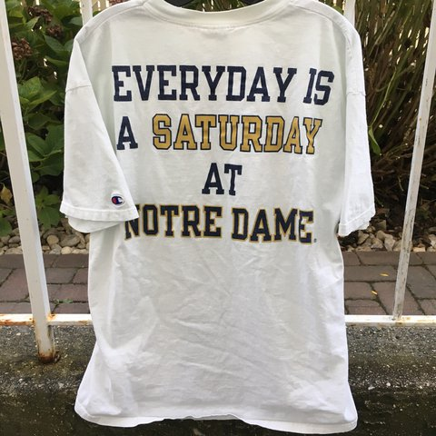 75511412befd @rootsbk. last year. New York, NY, USA. Vintage Champion Notre Dame t Shirt