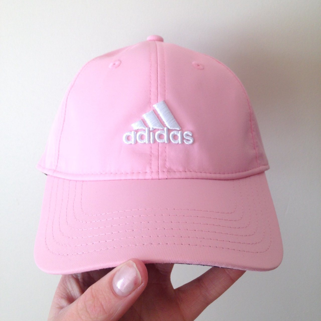 Genuine baby pink adidas cap 🙆🏼 instant buy only. Velcro - - Depop 7d8a030b87b