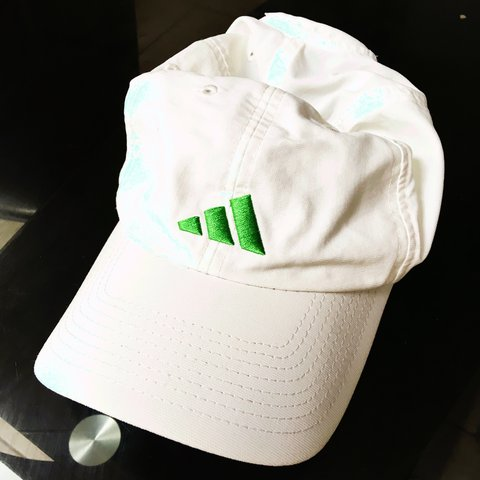 2f02e0537a3 Vintage style gully Adidas ClimaLite white baseball cap. out - Depop