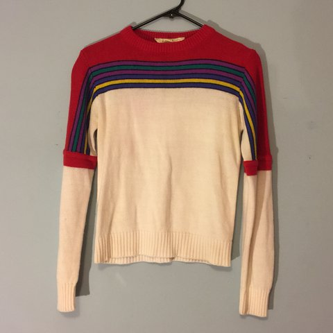 69c7e832c54 Vintage 80s over the rainbow sweater. Looks adorable with a - Depop
