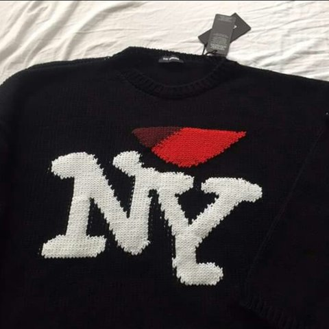 Raf Simons I Love Ny Sweater Size Small Fits Medium To For Depop