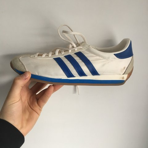 316033921 Adidas Country OG Blue and white Box not Included Worn do - Depop