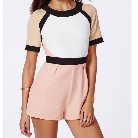 2c7bb3c1f4cd Missguided colour block playsuit