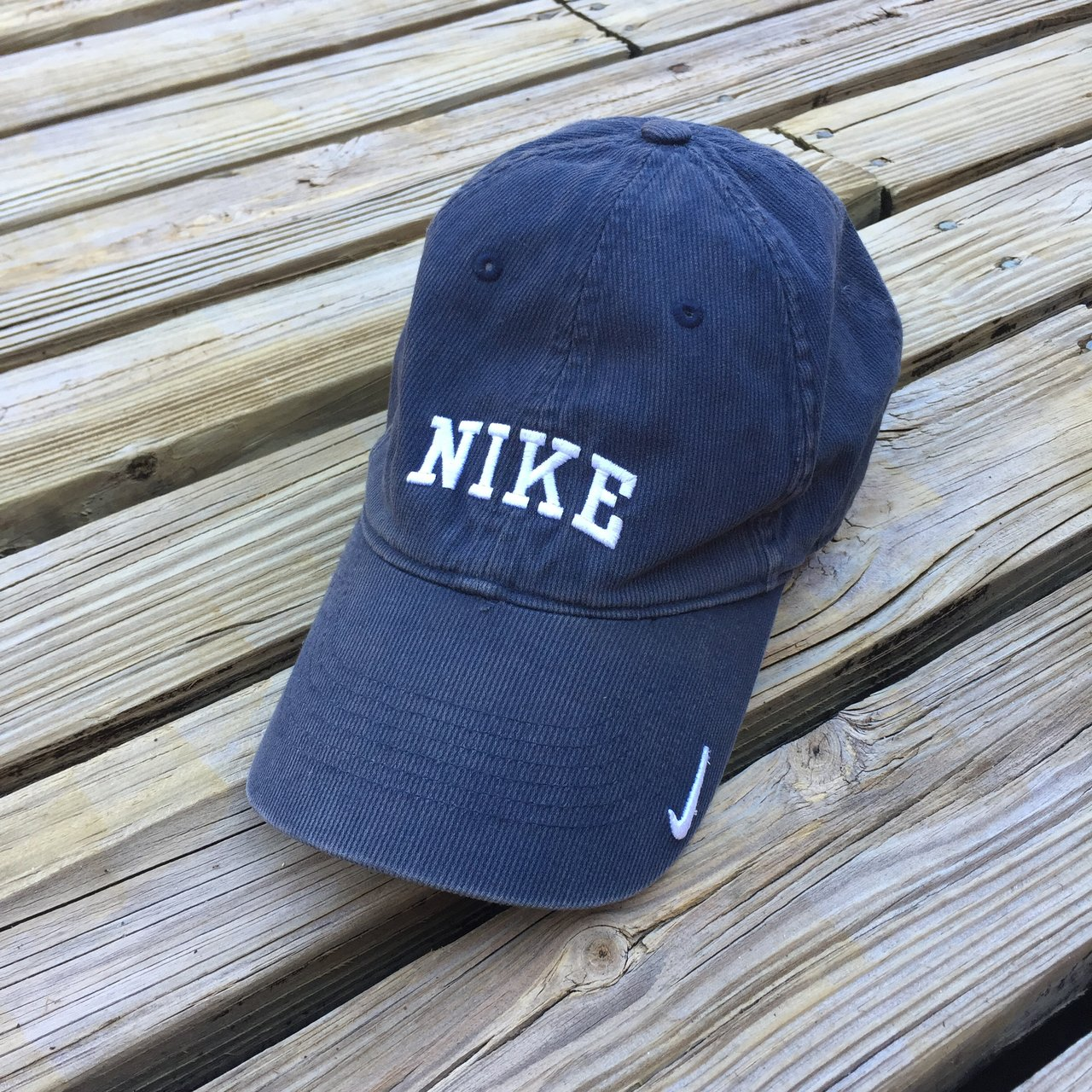 41d09d015f1 Nike corduroy hat! Nike corduroy blue hat - in great Has on - Depop