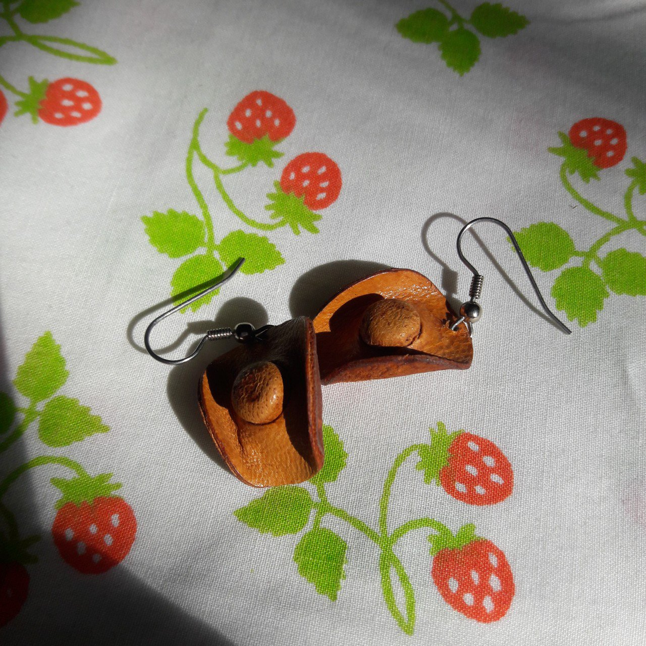 52c863ba9be Tiny Cowboy Hat Earrings! These small leather cowboy hats an - Depop
