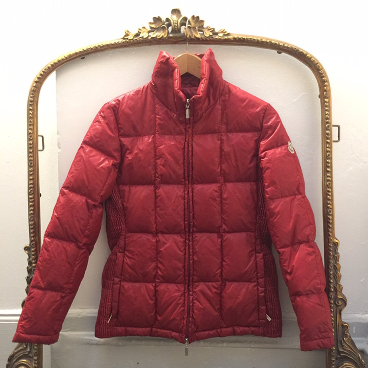 3b8f2427206a Authentic red Moncler puffer jacket! Size 3 but would fit a - Depop