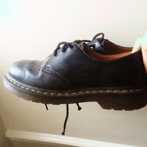 6737865d40d861 Amazing condition low top black  DrMartens size 5. A bit as - Depop